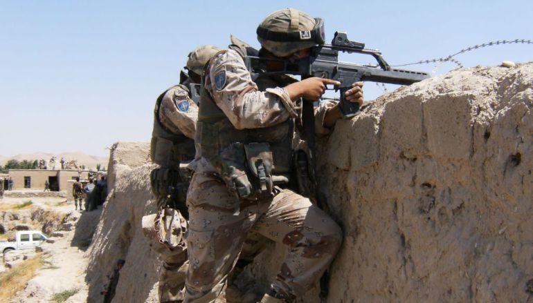 Españoles en Afganistan en 2008