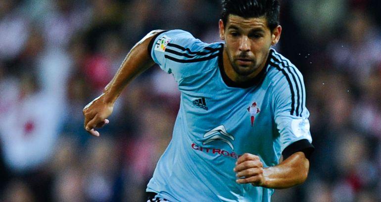 Nolito, en un partido con el Celta de Vigo.