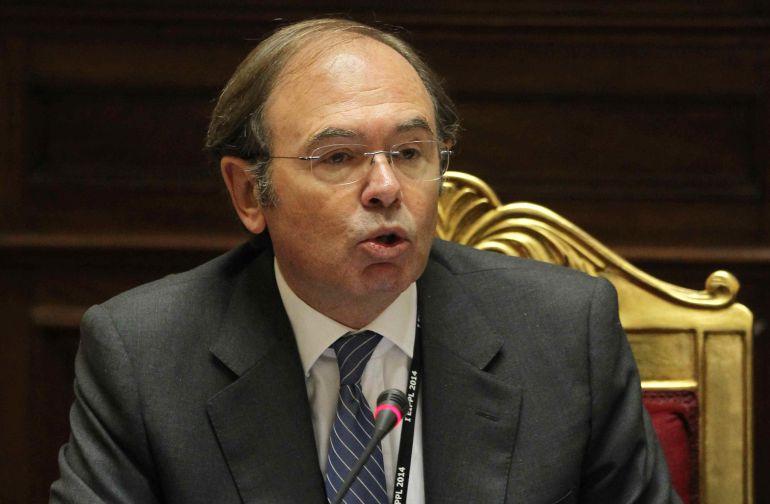 El presidente del Senado de España, Pio García-Escudero, durante una conferencia en 2014