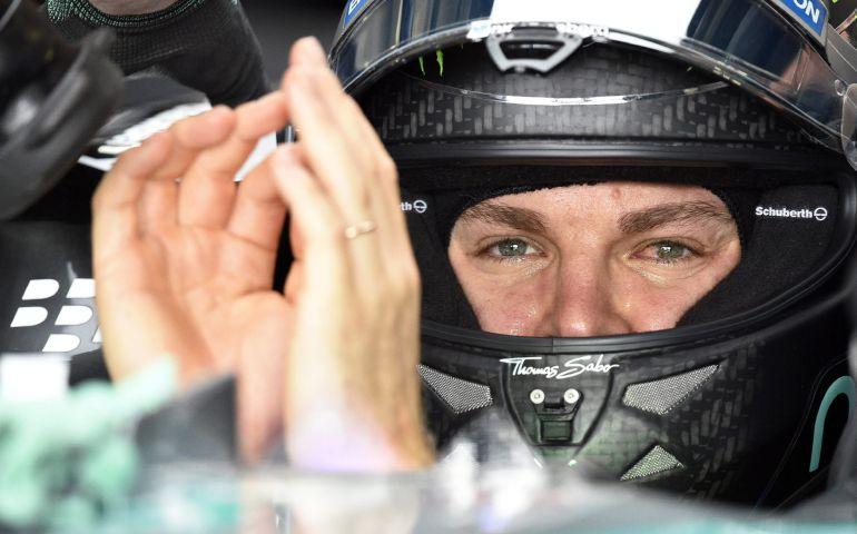 Nico Rosberg durante la tercera sesión de clasificación del G.P. de Japón que se disputa en Suzuka.