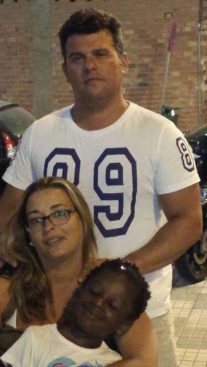 Javier y Marina, con Pilar