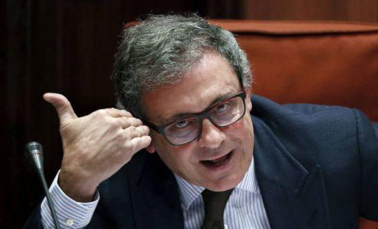 Jordi Pujol Ferrusola, durante su declaración en el Parlament