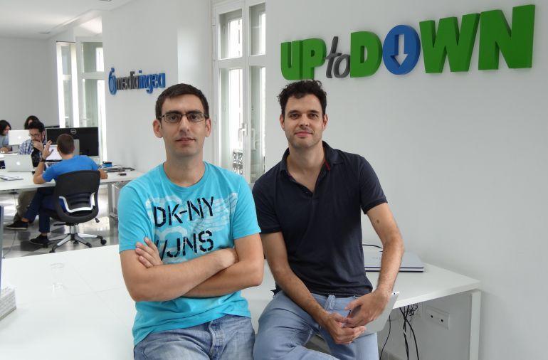Luis Hernández y Pepe Domínguez, los fundadores de Uptodown