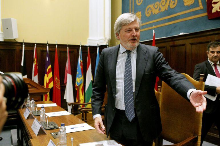 El ministro de Educación, Íñigo Méndez de Vigo, durante la reunión del Consejo de Universidades la semana pasada en Madrid