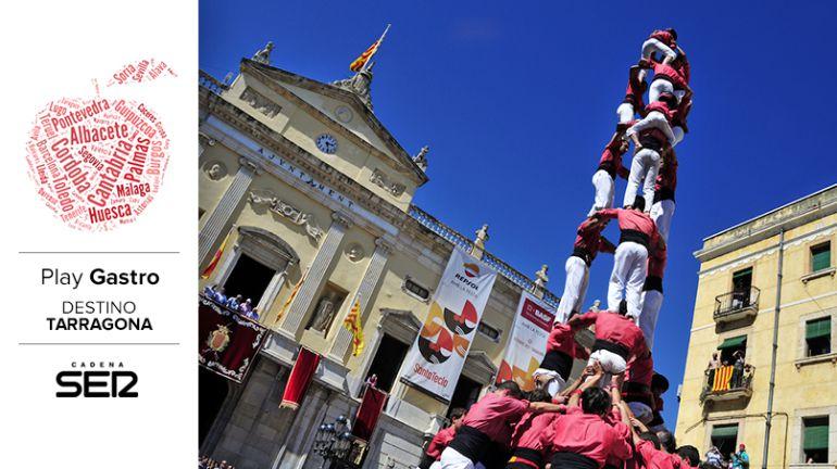 'Castells' durante las fiestas de Santa Tecla, que se celebran a finales de septiembre en Tarragona.