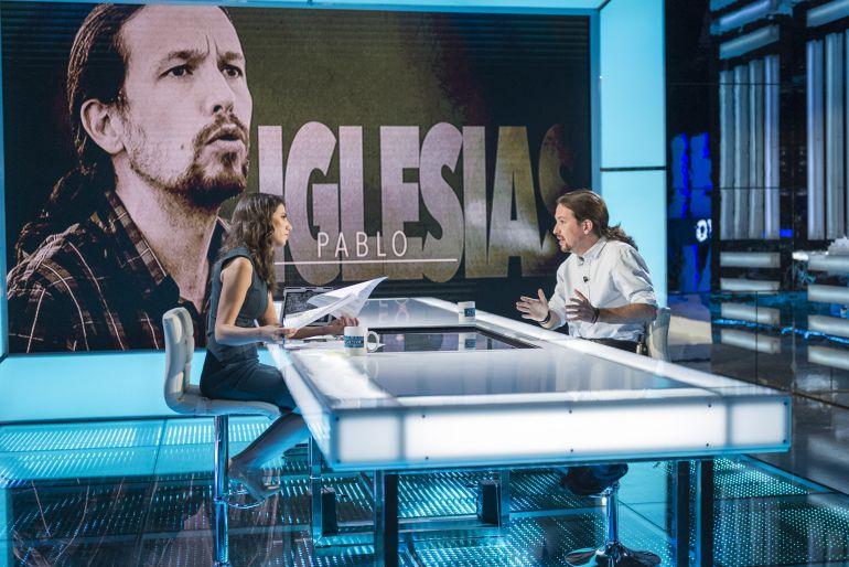 Pablo Iglesias durante su entrevista en 'El objetivo'