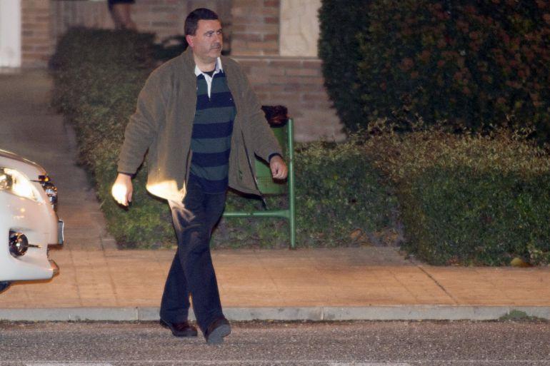 David Marjaliza, a su salida esta tarde de la cárcel de Aranjuez (Madrid)