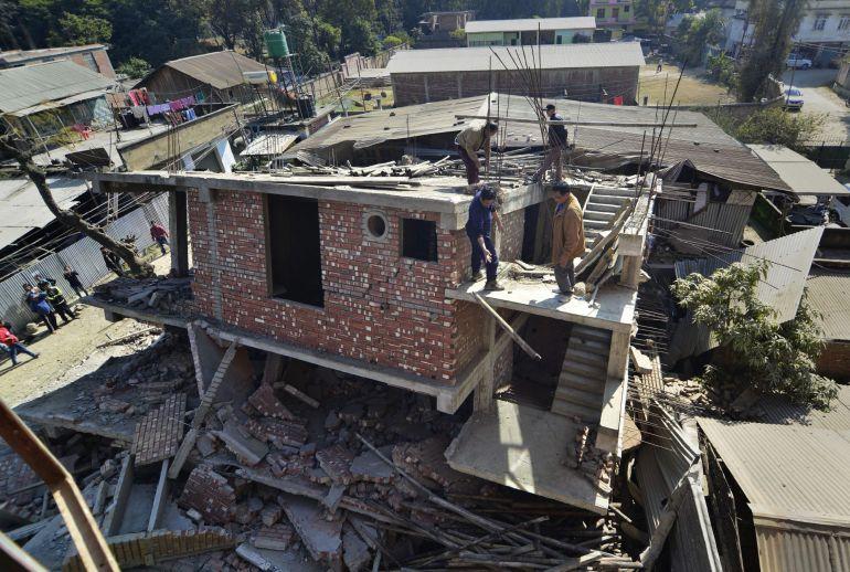 Un terremoto de 6,7 grados se ha registró en el noreste de la India el 4 de Enero del año 2015.