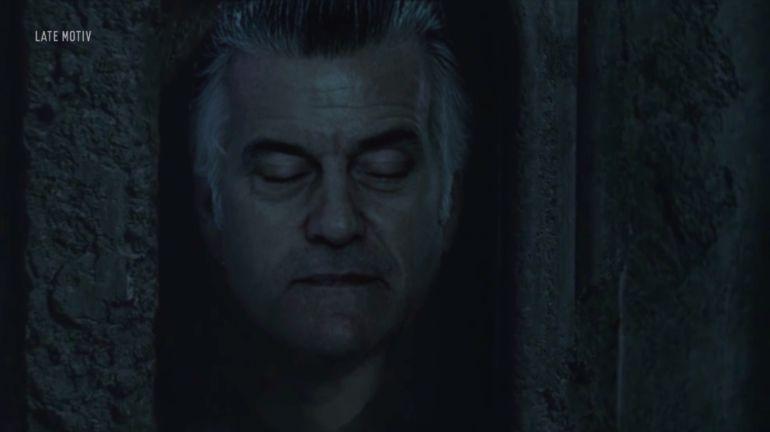 La cabeza de Bárcenas en el vídeo de 'Late motiv'