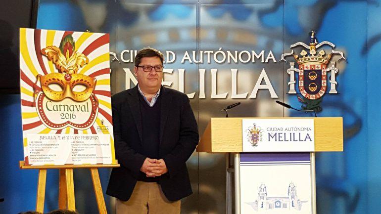Francisco José Díaz, en la presentación de los carnavales de Melilla