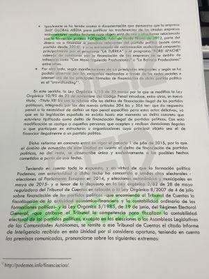 Segunda página del informe P.I.S.A