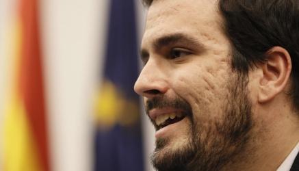 El portavoz de Unidad Popular Izquierda Unida en el Congreso de los Diputados, Alberto Garzón