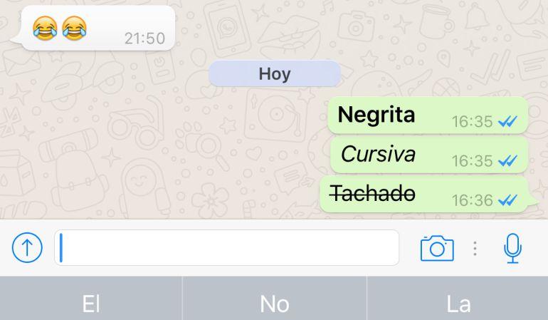 Cómo poner negrita, cursiva y tachar palabras en Whatsapp-http://cadenaser00.epimg.net/ser/imagenes/2016/03/30/ciencia/1459350026_640905_1459350407_noticia_normal.jpg