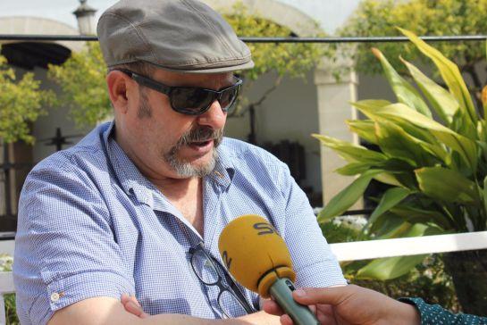 Philippe Regol, durante la entrevista, en las Bodegas Osborne.