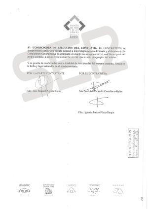 Segunda página del contrato de adjudicación del libro VIP de la ciudad de las Artes y las Ciencias a la empresa Process Color.