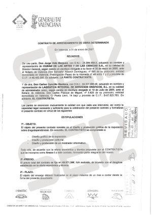 Contrato de la exposición de la exposición sobre drogodependencia.
