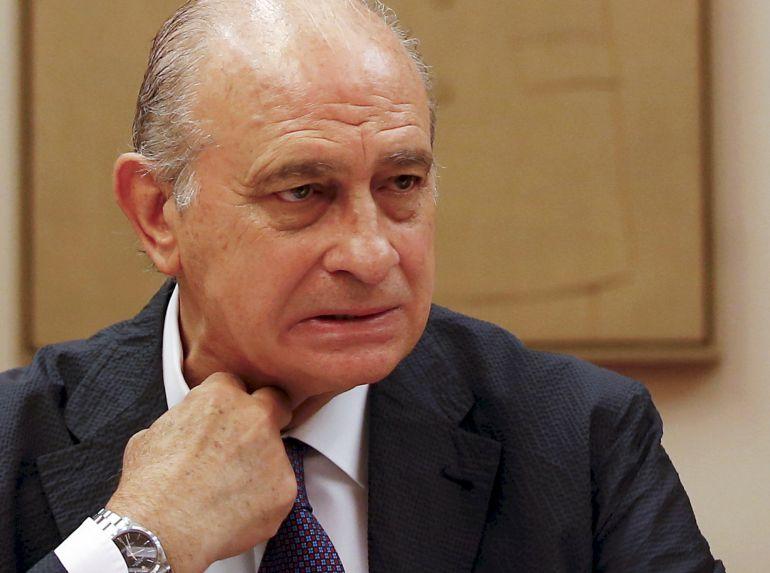El ministro del Interior, Jorge Fernández Díaz, en una comisión parlamentaria