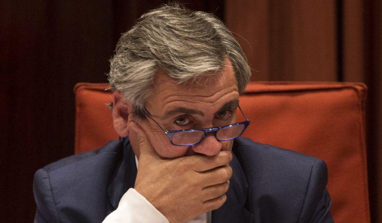 El director de la Oficina Antifraude de Cataluña, Daniel de Alfonso, durante su comparecencia hoy en el Parlamento de Cataluña.
