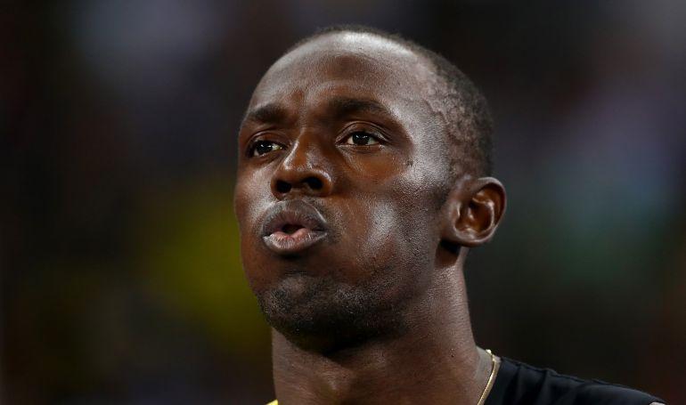 Primer plano de Usain Bolt