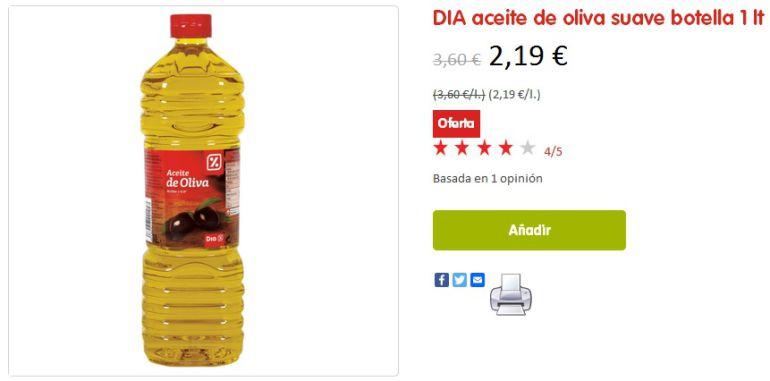 Precio aceite de oliva dia