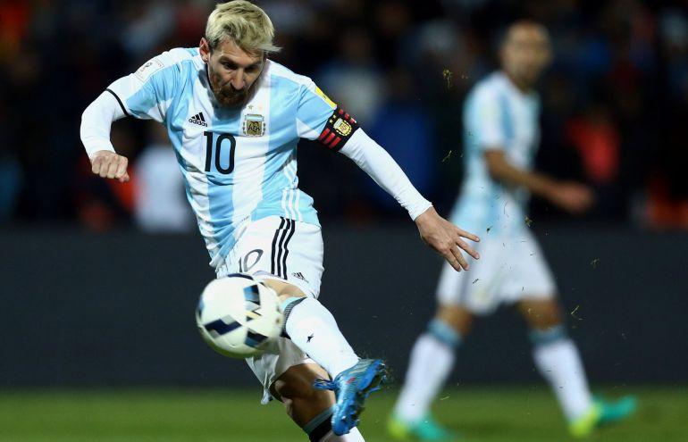 Leo Messi, en el partido de Argentina frente a Uruguay