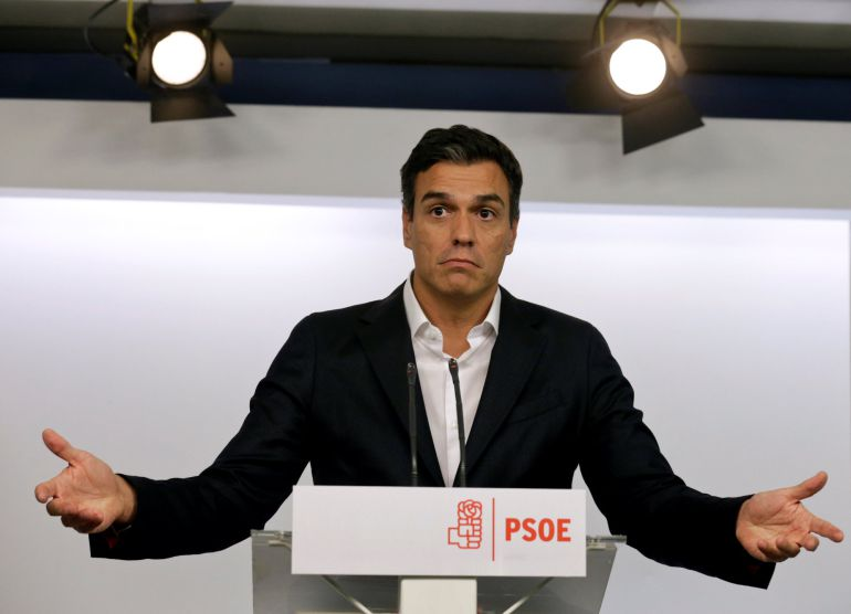 El líder del PSOE, Pedro Sánchez, quiere intentar un pacto con Podemos y Ciudadanos