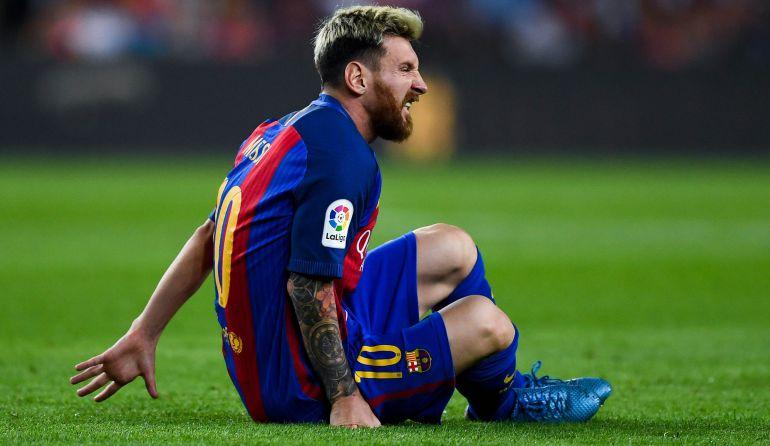 Leo Messi, en el partido ante el Atlético de Madrid.