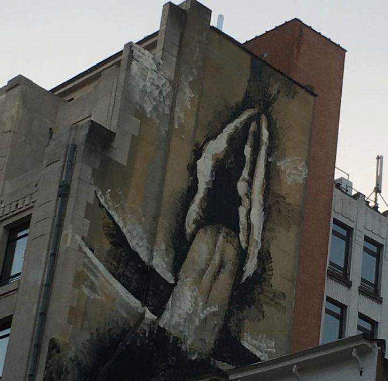 Mural en la Rue des poissoniers, en Bruselas