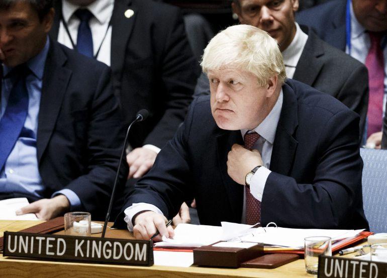 El ministro británico de Exterioes durante una reciente intervención ante la Asamblea de Naciones Unidas