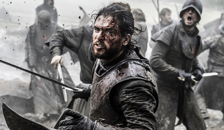 Jon Snow en la Batalla de los Bastardos (6x09)
