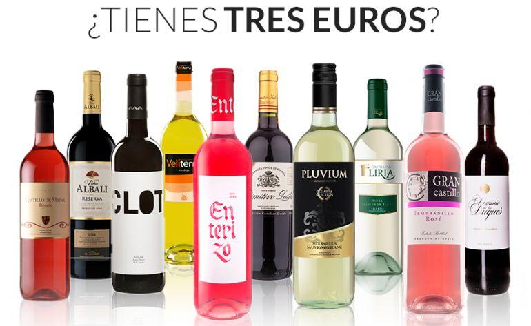 """Todos estos vinos cuestan menos de tres euros y cuentan con """"cuatro ojos"""" en la guía 'Los Supervinos 2017'."""