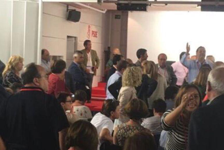 Una instantánea del Comité Federal del PSOE del pasado sábado