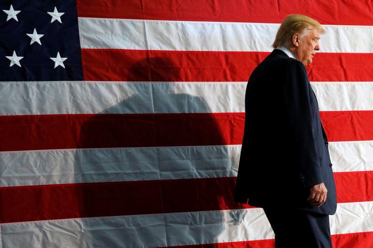 El candidato republicano, Donald Trump, durante un acto en Colorado