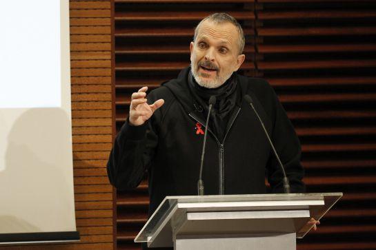 El cantante Miguel Bosé, director de la gala y embajador de la Fundación Lucha contra el Sida.