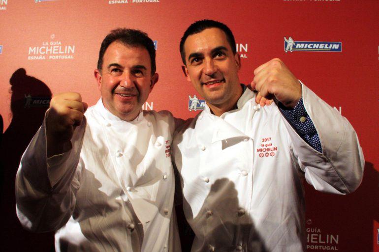 Martín Berasategui y Paolo Casagrande celebrando la tercera estrella