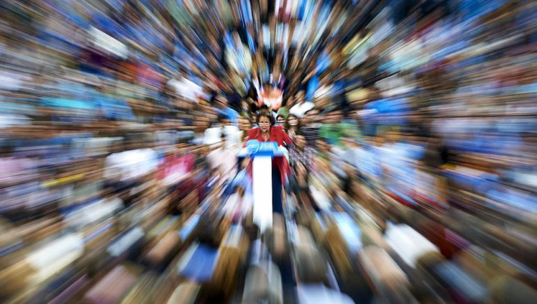 Rita Barberá durante un acto electoral del Partido Popular