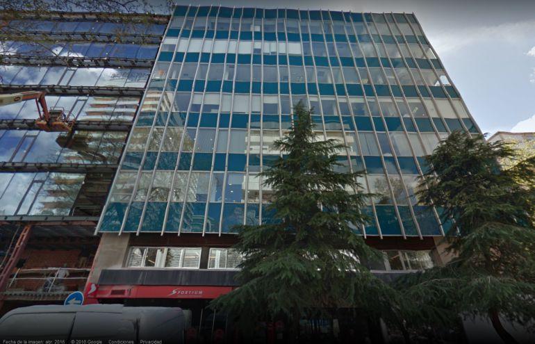 Vista de la fachada de las oficinas de Mercasa en Madrid