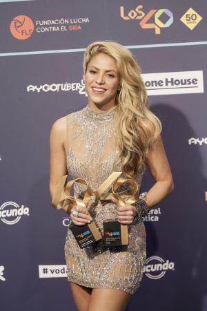 Shakira fue una de las protagonistas de la noche
