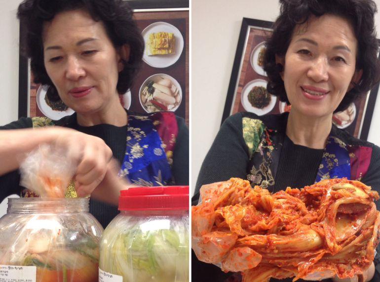 Kimchi traído de Corea para los talleres celebrados en Madrid.