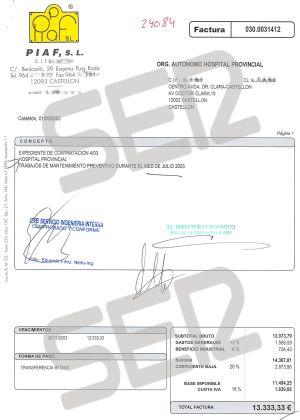 Pulsa para ver nuevas facturas aportadas por la Generalitat Valenciana.