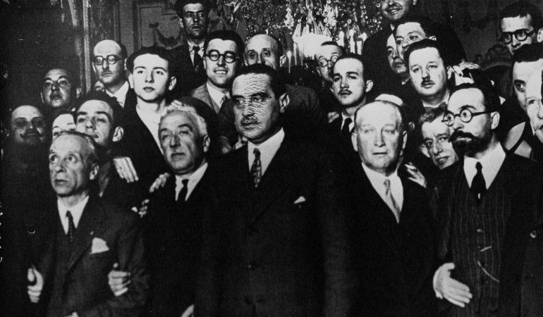 Miembros del gobierno provisional de la Segunda República, en una imagen de archivo.