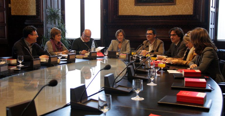 Reunión de la Mesa del Parament del pasado 13 de diciembre.