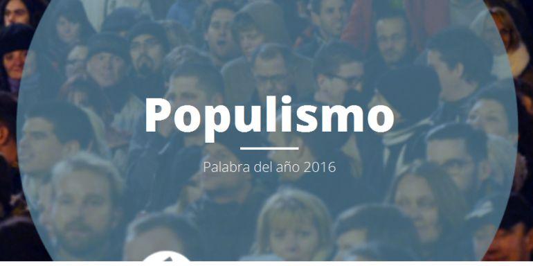 Populismo, palabra del año 2016