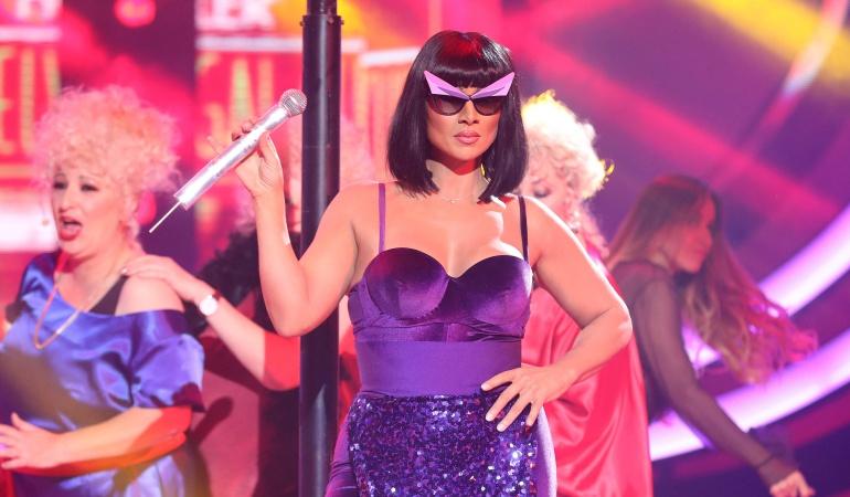 Rosa López en una gala de 'Tu cara me suena'