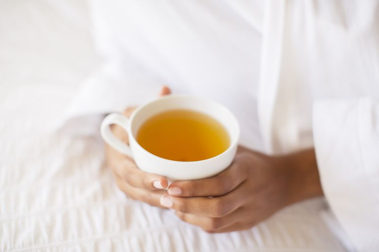 Qué bien entra una taza té calentito...