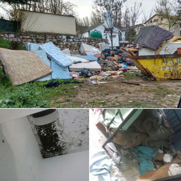 Combo de fotografías de la situación de las instalaciones de Dianova