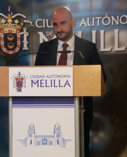 Isidoro González, consejero de Seguridad Ciudadana de Melilla.