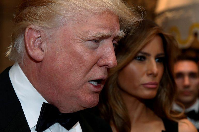El presidente electo, Donald Trump, y su esposa Melania.
