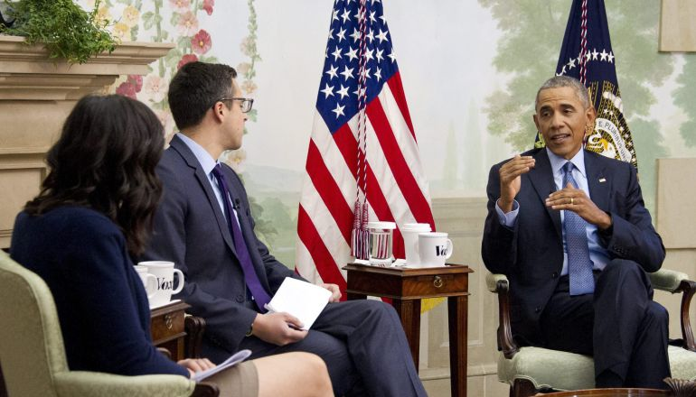 Barack Obama durante una entrevista en la Casa Blanca.