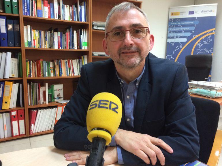 Santos Cavero, gerente de Dianova España durante la entrevista concedida a la Cadena SER